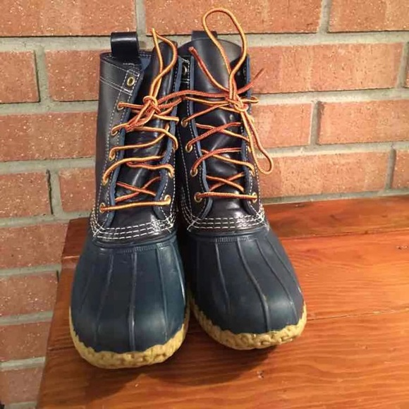 Ll Bean Boots In Navy Sz 6 Rare Color